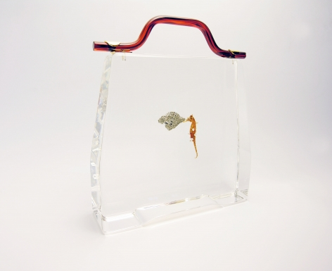 Ted Noten, Dutch design, acrylic handbag, sculpture, drawer