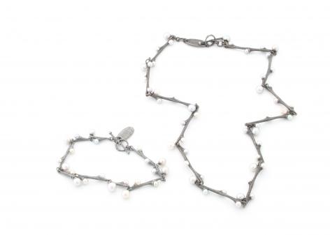 John Iversen pearl bracelet, necklace
