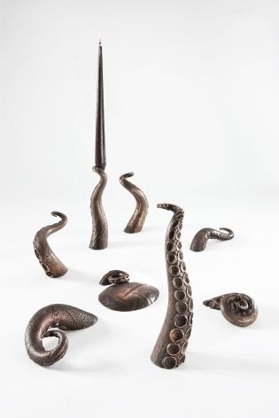 Octopus Candelabra David Bielander Bronze