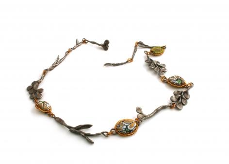 Mary Preston, beaded necklace, american contemporary jewelry
