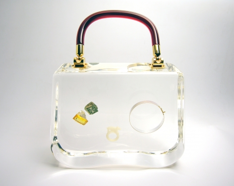 Ted Noten, acrylic bag, Dutch Design,