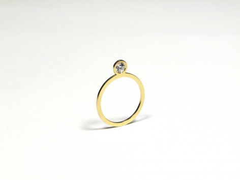 New Flat Diamond Ring