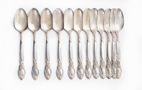 Jaydan Moore, trays, platter, silver plated, spoons