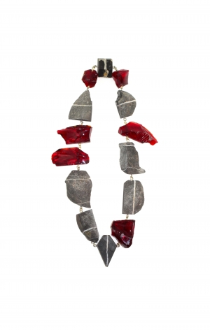 Philip Sajet, glass, contemporary jewelry, necklace, Dutch