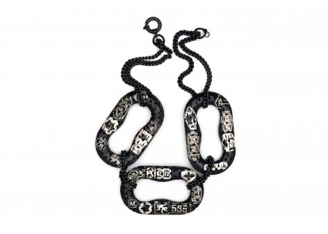 Veronika Fabian, jewelry, Marzee, chain links necklace, tattoo, hallmark