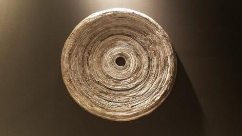 Jaydan Moore platter, wall piece, art, silver plated, Design Miami