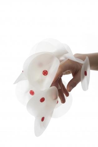 Camilla Prasch, contemporary jewelry, silicone, snaps, Danish