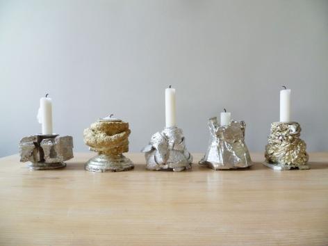 David Clarke, pewter, candlesticks
