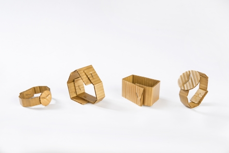 David Bielander Delicately Crafts Cardboard Looking Bracelets...