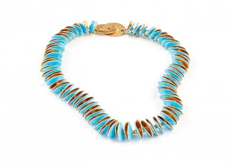 Ralph Bakker, necklace, gold, enamel, Dutch jewelry