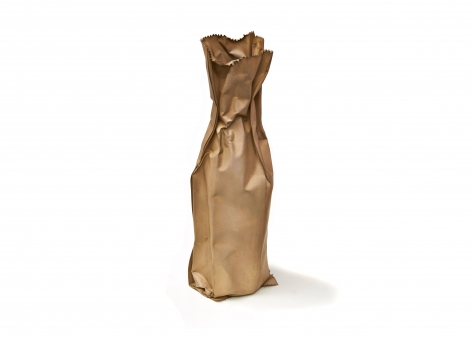 David Bielander, Paper Bag, silver, vessel, silver triennial, trompe l'oeil