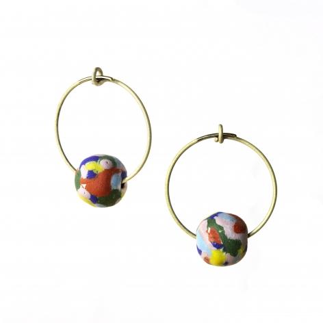 aaron decker enamel earrings