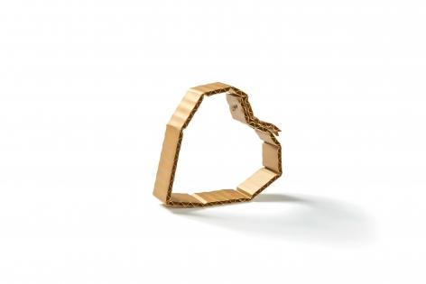 David Bielander, Cardboard, bracelet, gold, trompe l'oeil