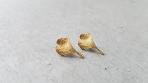 John Iversen earrings Ginkgo leaves