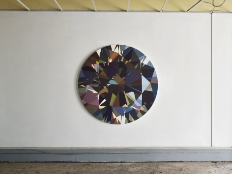 installation view of MATHIEU MERCIER : diamants 2015