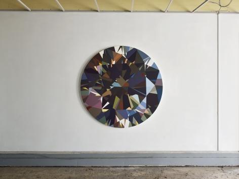 installation view of MATHIEU MERCIER : diamants 2015