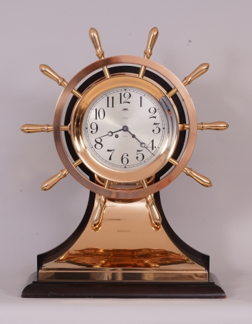 "Rare 8 1/2 Inch Chelsea Yact Wheel Clock from the Yacht ""SUMAR"""