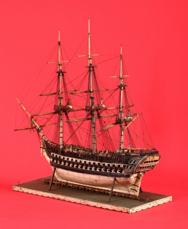 Bone Prisnor of War Model of the 92 Gun Royal George