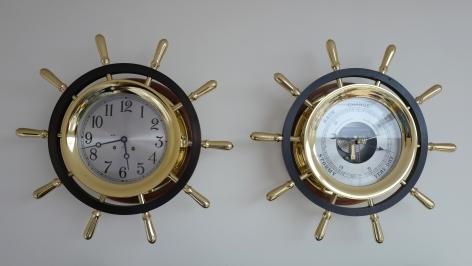 Chelsea 8 1/2 inch Pilot Clock and Barometer Set