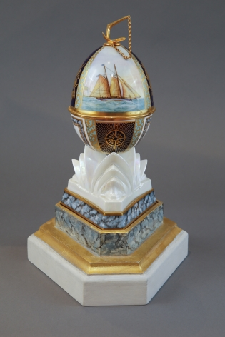 Royal Worcester Egg - America's Cup 1987