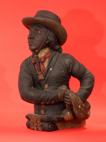 """Important Figurehead from the Slave ship """"Piratenim"""" Captured 1851"""