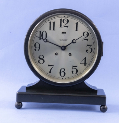 Chelsea 8 1/2 Inch Desk Clock with House Strike #140357