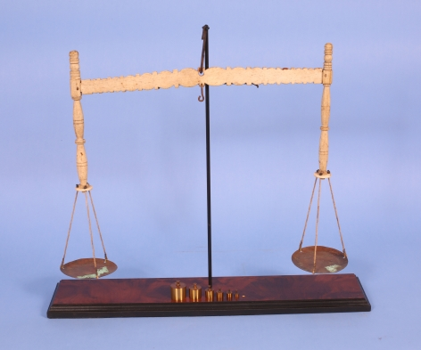 Rare Whalebone Balance Scale