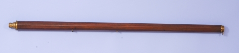 18th Century Reverse Taper Ten Sided Telescope with Screw Focus