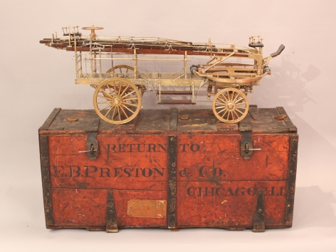 E.B. Preston Horse Drawn Turn Table Extension-Ladder Truck Boxed Salesman Sample