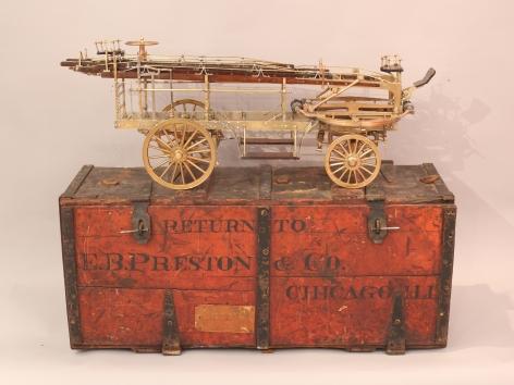E.B. Preston Horse Drawn Turn Table Extension-Ladder Truck Boxed Salesman Sample