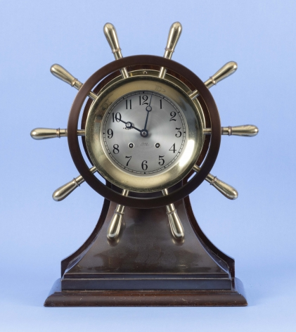 Chelsea Clock co., Chelsea Mariner with 6 Inch Dial and Time & Strike Movement #598162, Circa 1950