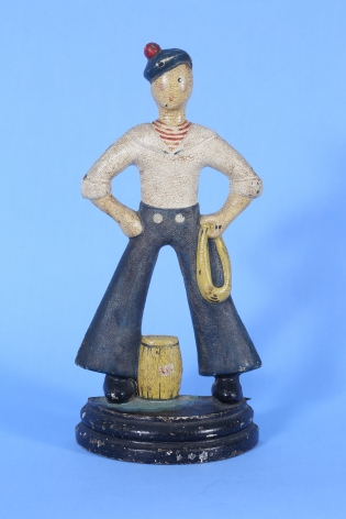 Hand Painted Littco Products Cast Iron Sailor Doorstop