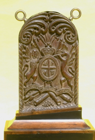 Carved gangway Board with Royal Crest