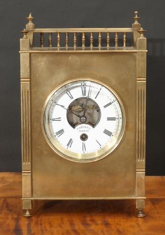 Harvard Mantel Clock with Open Escapement