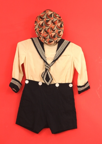 Young Boy's Sailor Suit with Colorful Hat