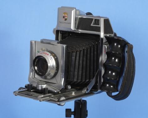 "Linholf Technika 2 1/4 x 3 3/4"" Camera #4860 with Ziess Tessar 105mm lens #1231237"