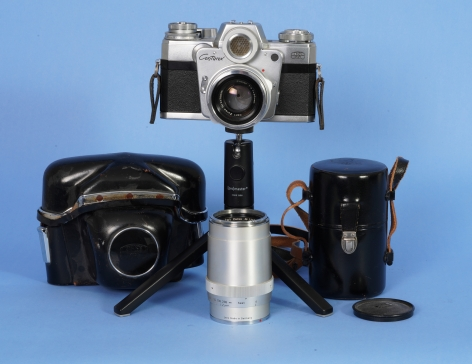 Zeiss Contarex SLR Film Camera with 2 Ziess Lenses