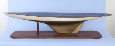 """Full Hull Model of Yacht """"Colombia"""" Attributed to Gustav Graham, American circa 1899"""