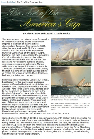 The Art of America's Cup