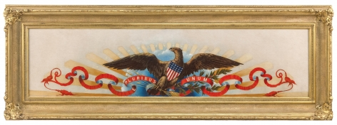 Painting an American Eagle Oil with Sunburst,Sky & Banner
