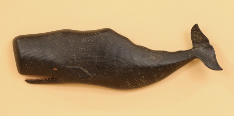 Carved and Painted Sperm Whale by Clark Voorhees