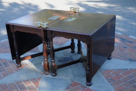 """Mahogany Two-Part Table from the SS """"Governor Cobb"""""""