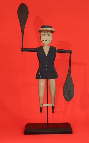 Large carved and Painted Large sailor Whirligig (FA-1055)