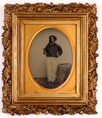Full Plate Ambrotype of Whaleman G.W. Dodge by Charles Hawes