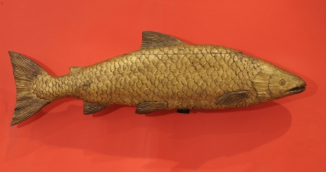 Carved and Gilded Salmon Weather Vane