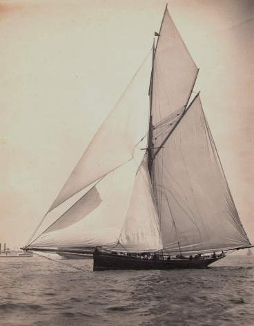 Platinim Print of the Yacht Genesta E.D. Lincoln