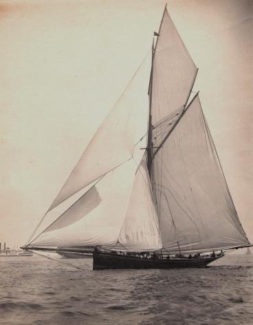 Platinim Print of the Yacht Genesta E.D. Lincoln