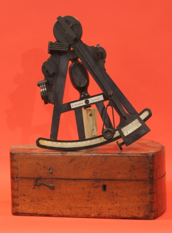 W. Weicht Ebony and Brass Octant