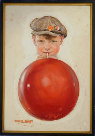 Boy Blowing Bubble by Harold M. Brett