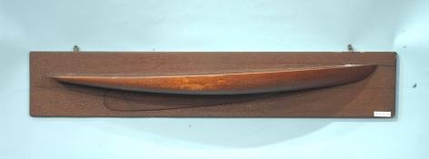 """Half Hull Model of the Sloop """"Adeline"""""""